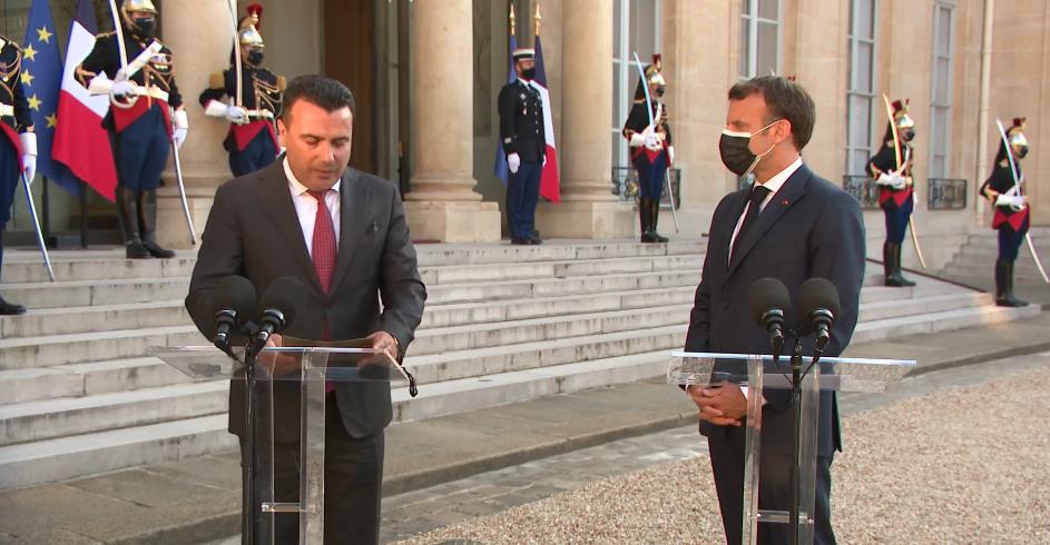 Македонија заслужува да ги почне преговорите без одложување вели Макрон