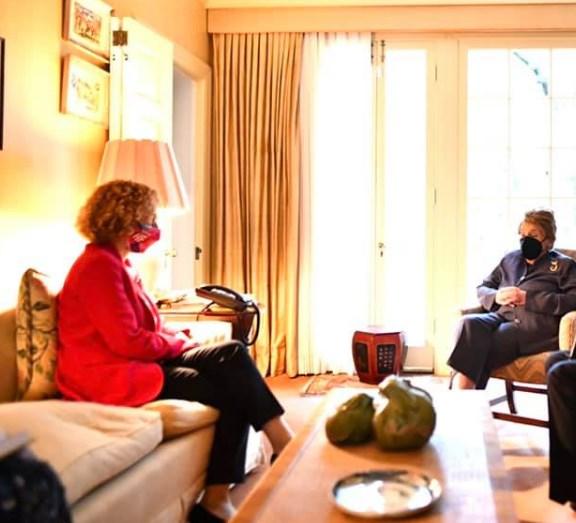 Шекеринска беше на гости кај  Олбрајт (ФОТО)